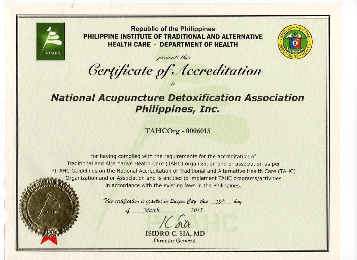 Nada philippines is now a tahc accredited organization nada nada philippines is now a tahc accredited organization nada philippines 1betcityfo Images