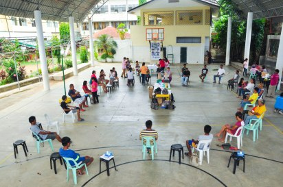 Treatment area for the community outreach at Infanta, Quezon.